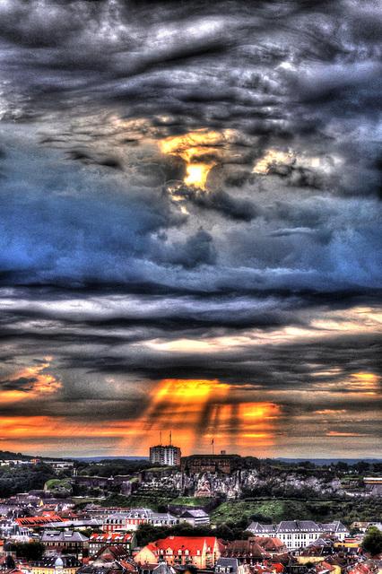 BELFORT: 23 août 2012 Levé du soseil.
