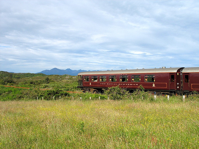 The posh end of the Royal Scotsman at Plockton