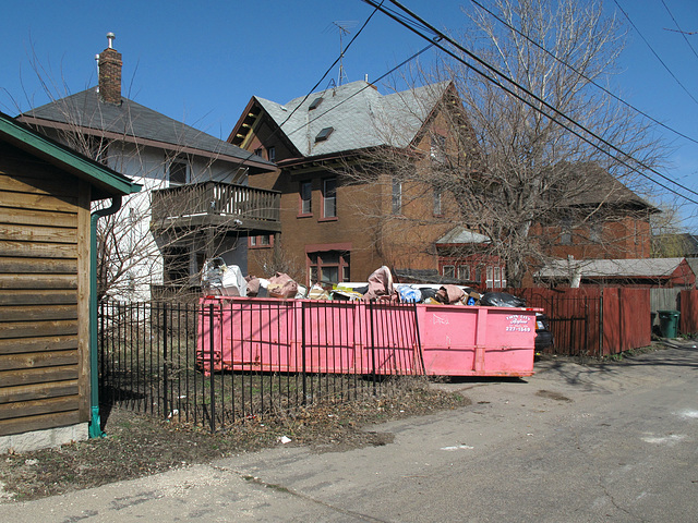 We are completely pinking the dumpsters in St. Paul.