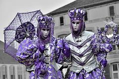 REMIREMONT: Carnaval vénitien ( Couleurs / Noir et blanc ).