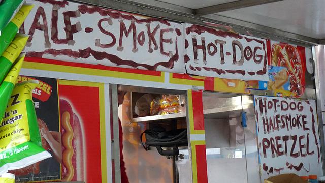 half-smokes and hot dogs