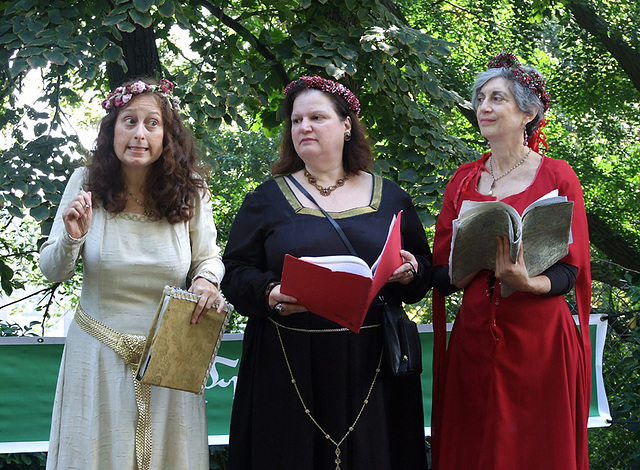 The Salomone Trio Performing at the Fort Tryon Park Medieval Festival, October 2009