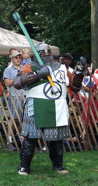 Sir Diablu at the Fort Tryon Park Medieval Festival, October 2009