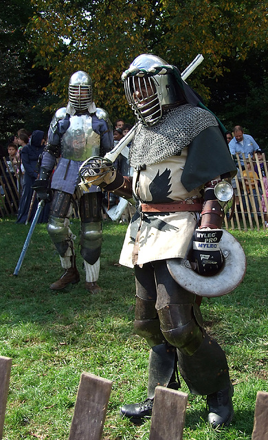 Jibril with Ervald in the Background at the Fort Tryon Park Medieval Festival, October 2009