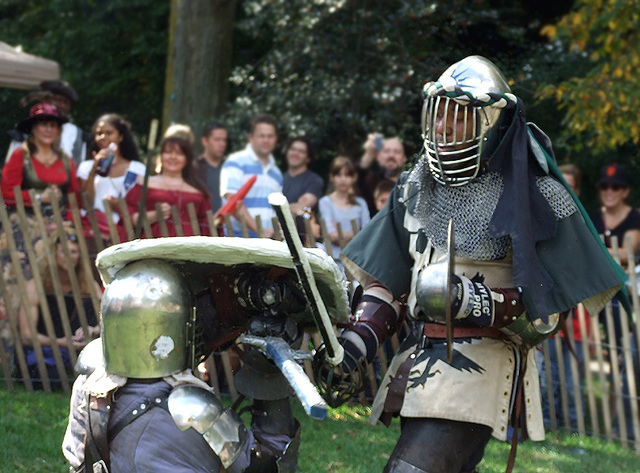 Jibril and Ervald Fighting at the Fort Tryon Park Medieval Festival, October 2009