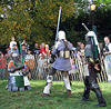 Sir Diablu vs. Ervald and Jibril at the Fort Tryon Park Medieval Festival, October 2009
