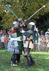 Sir Diablu and Jibril Fighting at the Fort Tryon Park Medieval Festival, October 2009