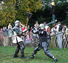 Jibril and Avran Fighting at the Fort Tryon Park Medieval Festival, October 2009
