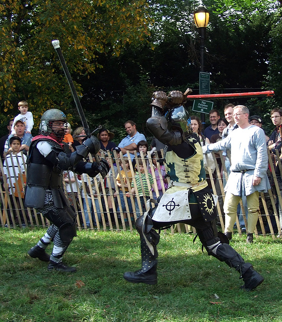 Avran Fighting at the Fort Tryon Park Medieval Festival, October 2009