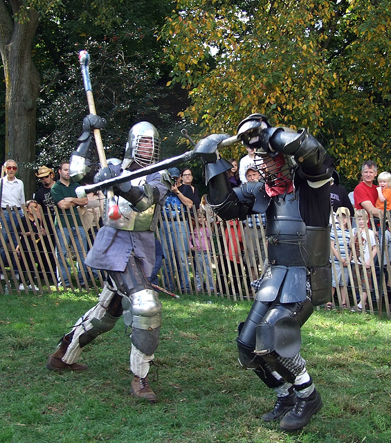 Ervald and Avran Fighting at the Fort Tryon Park Medieval Festival, October 2009
