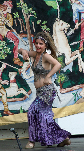 Belly Dancing at the Fort Tryon Park Medieval Festival, October 2009