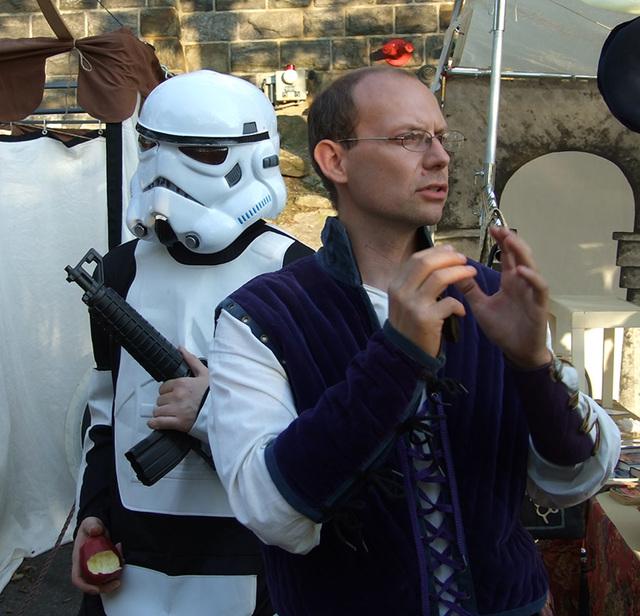 Stormtrooper at the Fort Tryon Park Medieval Festival, October 2009