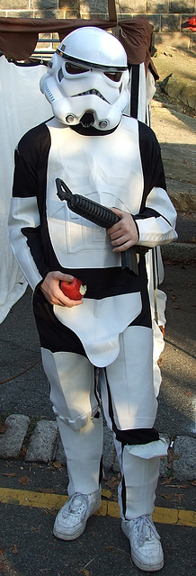 Stormtrooper at the Fort Tryon Park Medieval Festival, October 2009