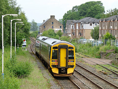 158722 passes the STOP board at Dingwall