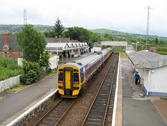 158726+158722 depart Dingwall for the Far North