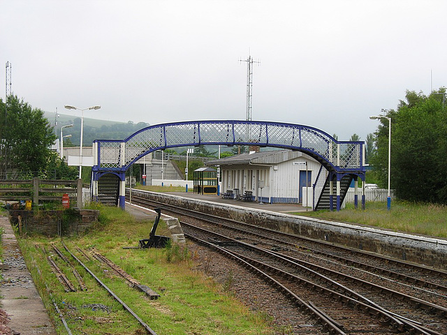 Dingwall station from the Engineers' siding