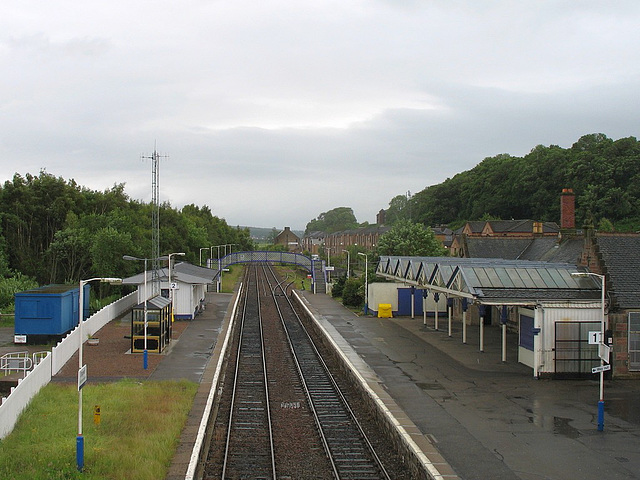 Dingwall station from Ferry Road bridge