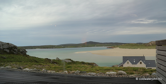 View from the deck outside Auberge Carnish, Uig