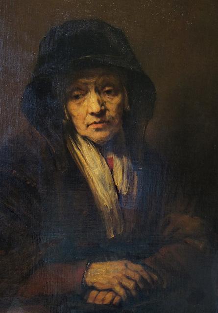 Porträt einer alten Dame