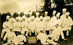 Suvretta House Chefs, St. Moritz, Switzerland, 1919