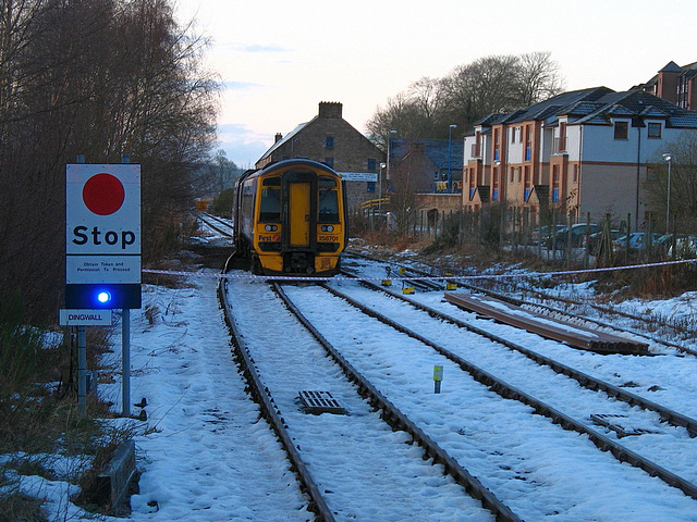 158701 derailed at Dingwall