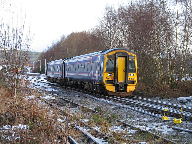 158701 derailed outside Dingwall station