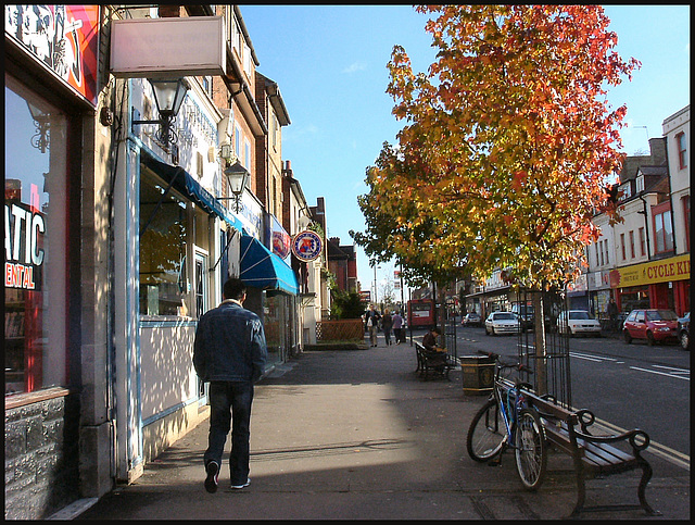 Cowley Road in autumn