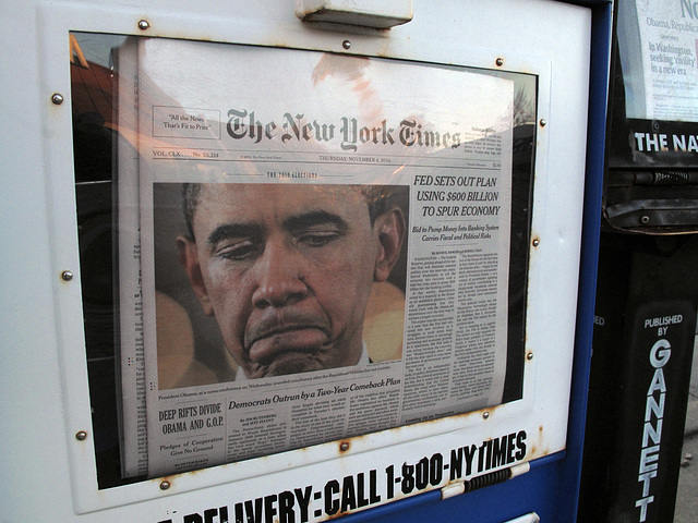 """Early Nov good photojournalism!: A press pic that accurately explains the message that Pres. Obama was wanting to send out to the U.S. on the day after the midterm elections: """"I am crying."""""""