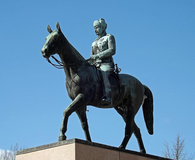 Statue of Mannerheim, the Marshal of Finland in Helsinki, April 2013