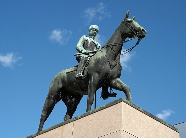 Statue of Mannerheim, the Marshal of Finland in Helsinki, April 2013