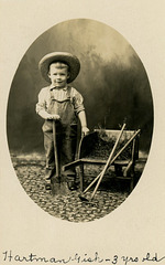 Hartman Gish, Farmer, Three Years Old, 1907