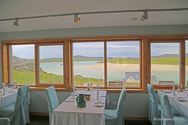 View from the dining room at Auberge Carnish