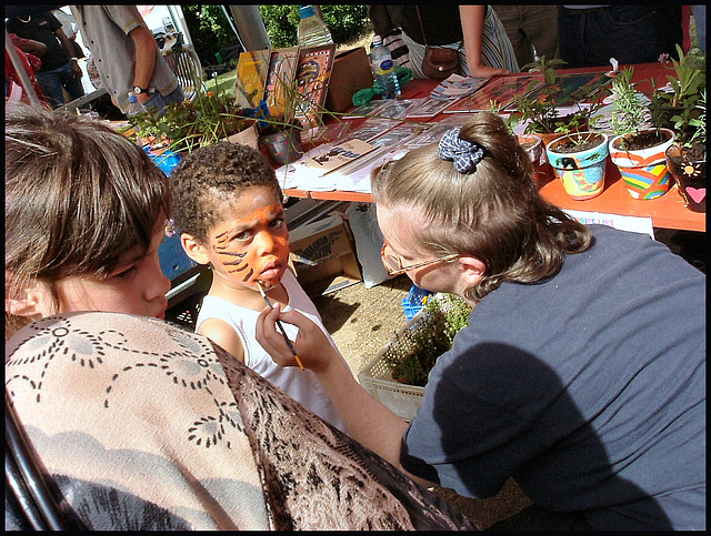 Cowley Road face-painting