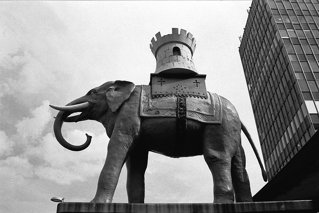 Elephant. Outside Elephant and Castle Market.