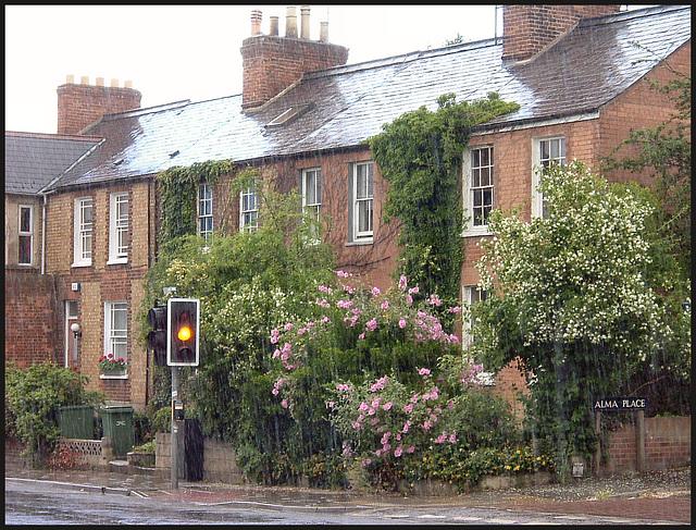 summer rain in Cowley Road