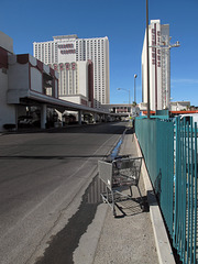 "Almost a sidewalk!, a little area for children to push their shopping carts toward the ""Circus Circus"" casino for children."