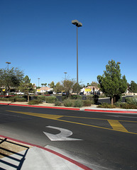 The particular look of Costco driveways that only Southern Nevada seems to know how to do a good job of bringing into being.