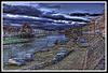 BESANCON: Les quais Vauban et Strasbourg au levé du jour du dimanche 30 novembre 2008.