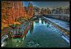 BESANCON: Le Moulin St Paul, le canal sous la glace...