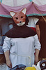 Judith as a Fox Mummer at the Fort Tryon Park Medieval Festival, Oct. 2004