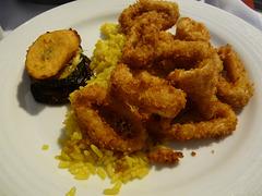 calamar con arroz