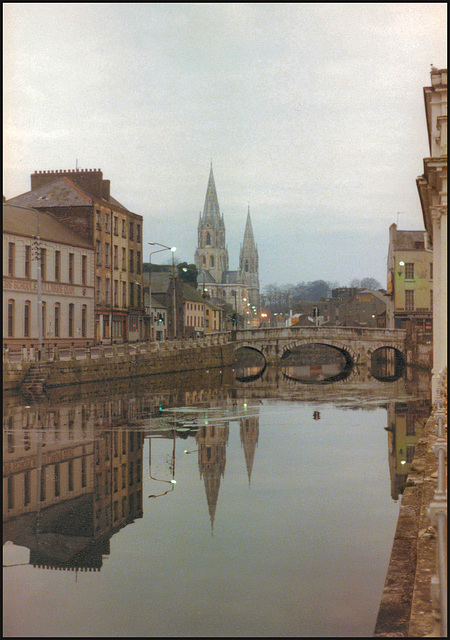 Cork Cathedral and River Lee