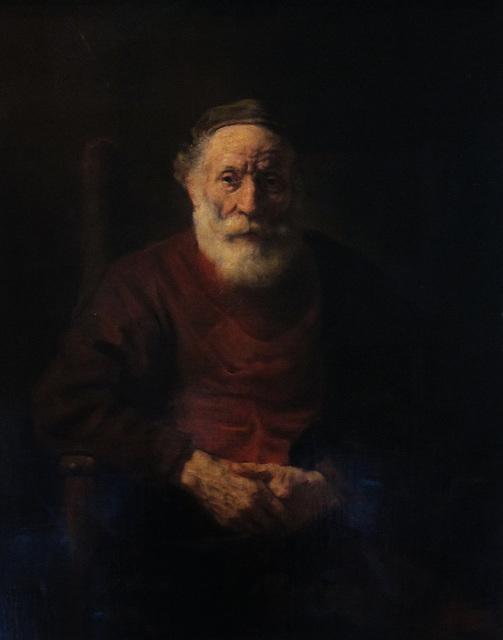 Alter Mann im Lehnstuhl