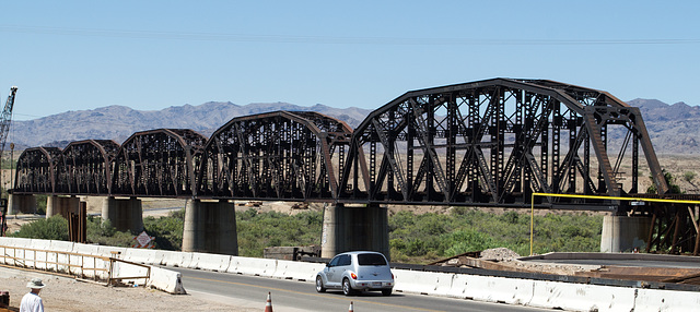 Parker, AZ: Arizona & California RR bridge  (0669)
