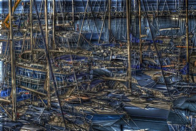 FREJUS: Bateaux dans le port de Port-Fréjus.