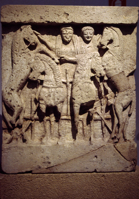 Chariot Metope from Selinus in the Palermo Archaeology Museum,March 2005