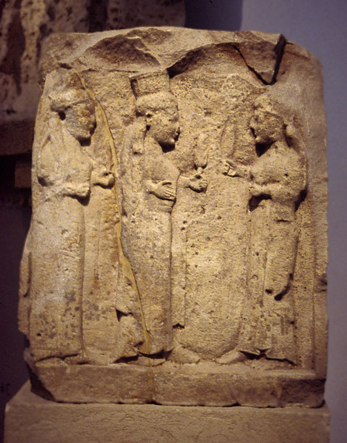 Goddesses Metope from Selinus in the Palermo Archaeology Museum, March 2005