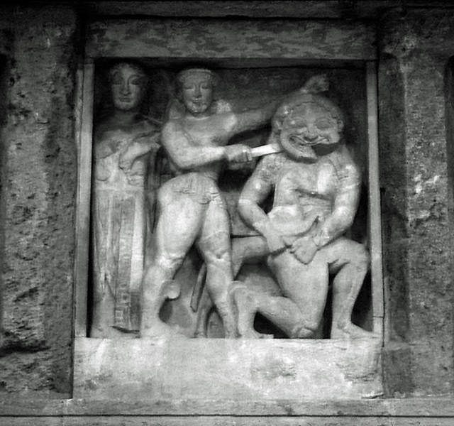 Perseus and Medusa Metope from Temple C at Selinus in the Palermo Archaeology Museum, March 2005