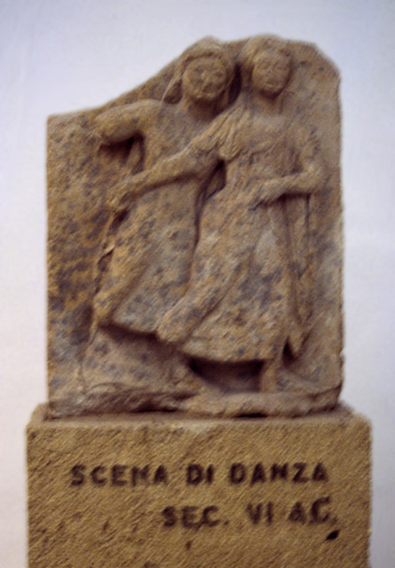 Dance or Rape Metope from Selinus in the Palermo Archaeology Museum,March 2005