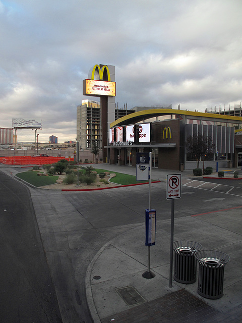 Here is a McDonald's in Las Vegas, but listen to my $$ idea for the McDonald's corp: An all-you-can-eat VEGAS BUFFET OF McDONALD'S FOODS in Las Vegas.  Americans would love it and it would be a huge t